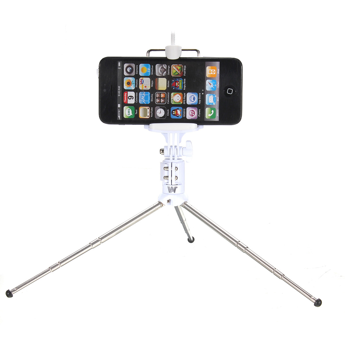 rechargeable bluetooth monopod remote tripod selfie stick for samsung iphone green intl. Black Bedroom Furniture Sets. Home Design Ideas