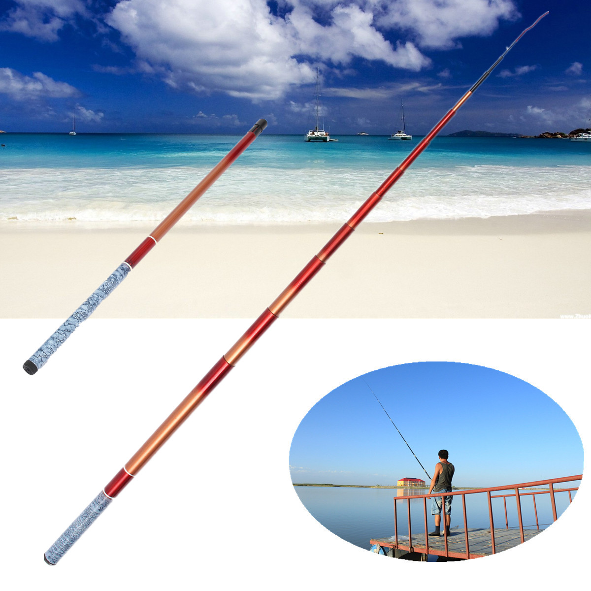 Mini portable glass fiber telescopic fishing fish rod for Fiber in fish