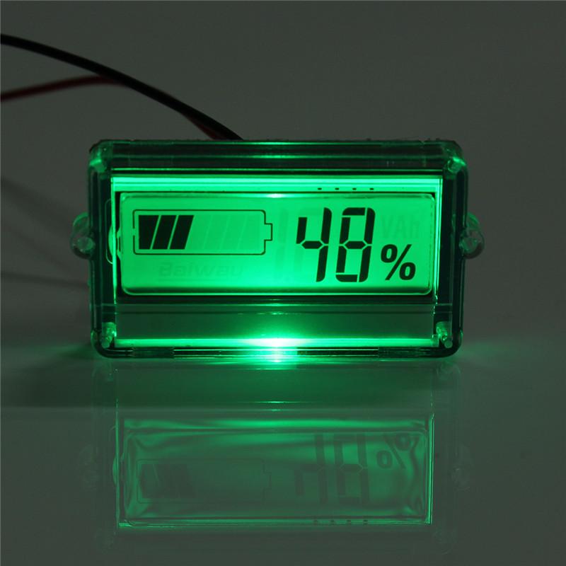 Waterproof Lcd Battery Capacity Tester Indicator 12v 24v
