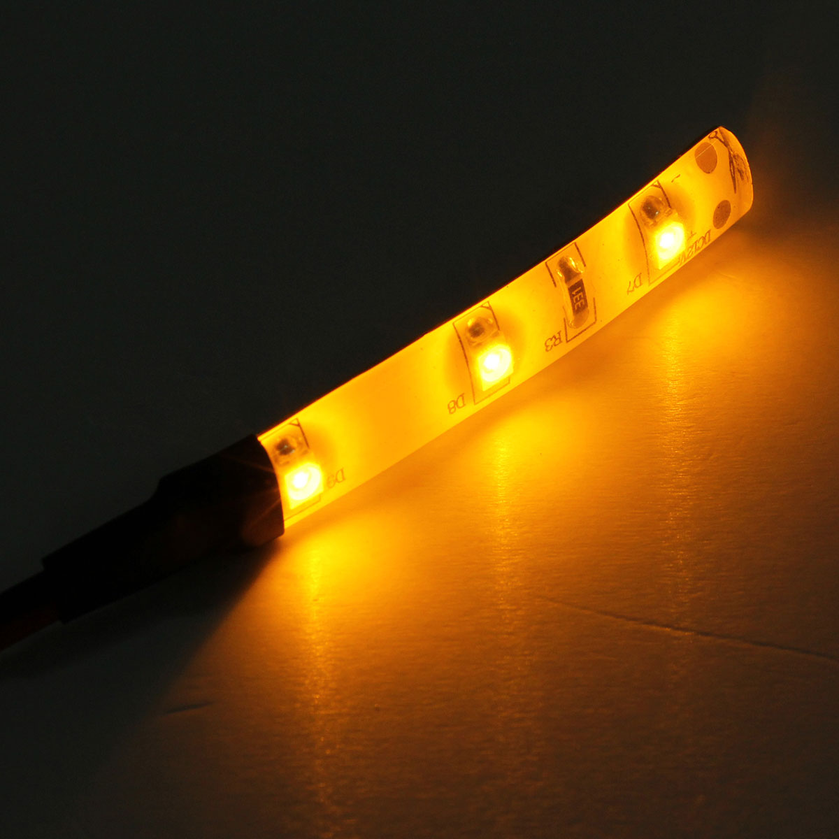 12v 3528 smd 3 led diy strip light for car cup holder glove box foot area yellow lazada malaysia. Black Bedroom Furniture Sets. Home Design Ideas