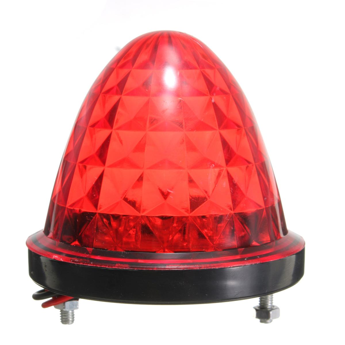 Red Truck Lamp : V led bullet shaped lamp side warnning light for truck