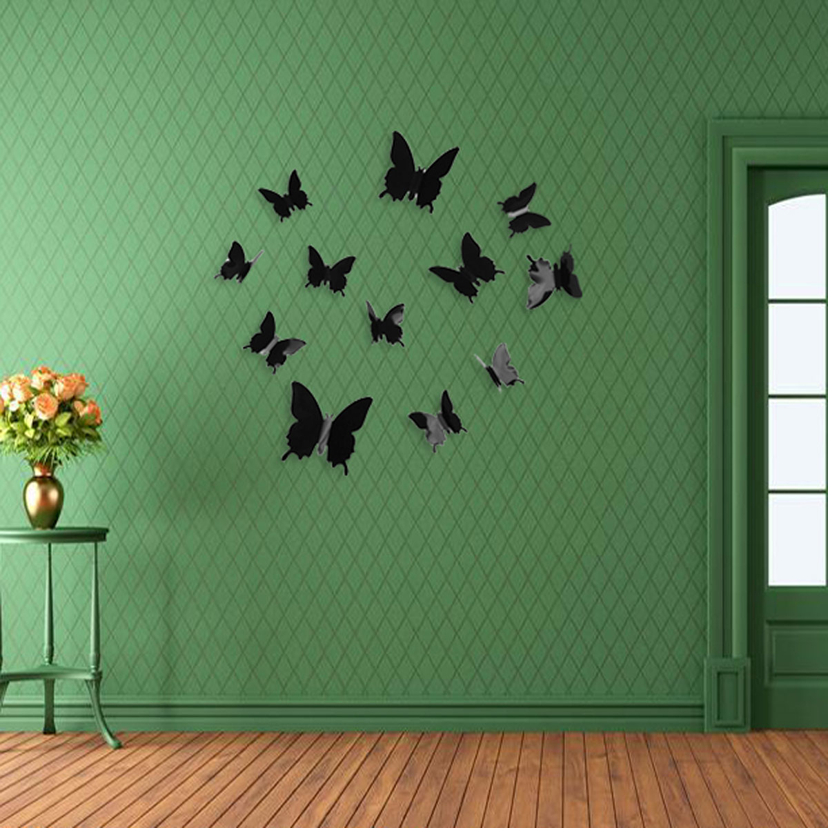 12pcs art decal home decor room wall stickers 3d butterfly for Room decor lazada
