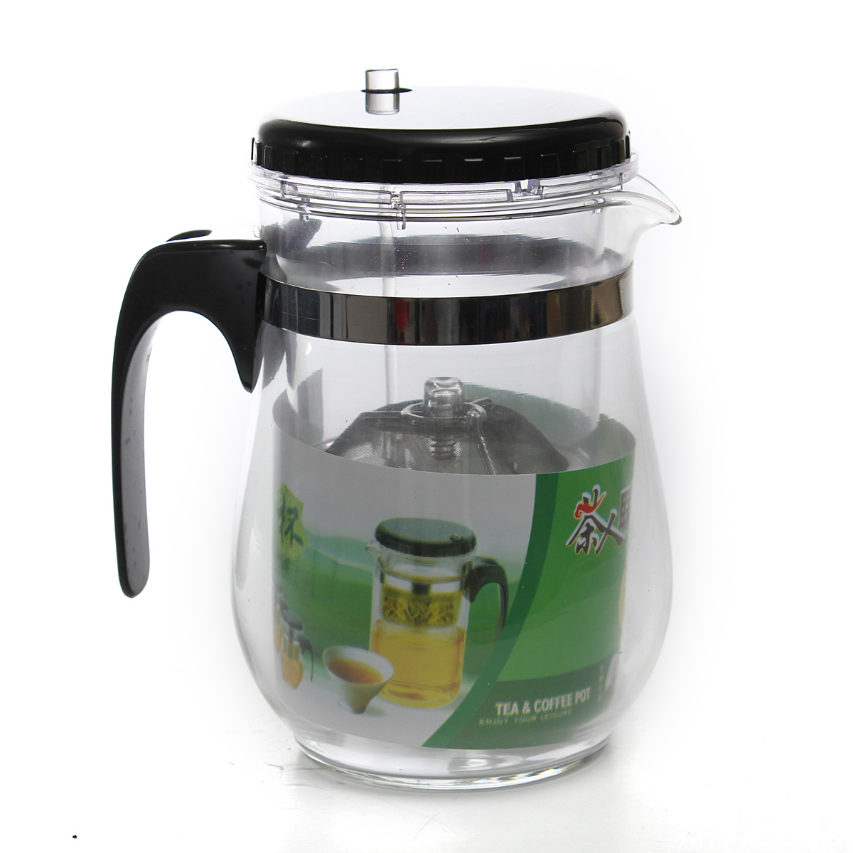 500ml Heat Resistant Glass Tea Pot Flower Puer Teapot Coffee Pot Teaset