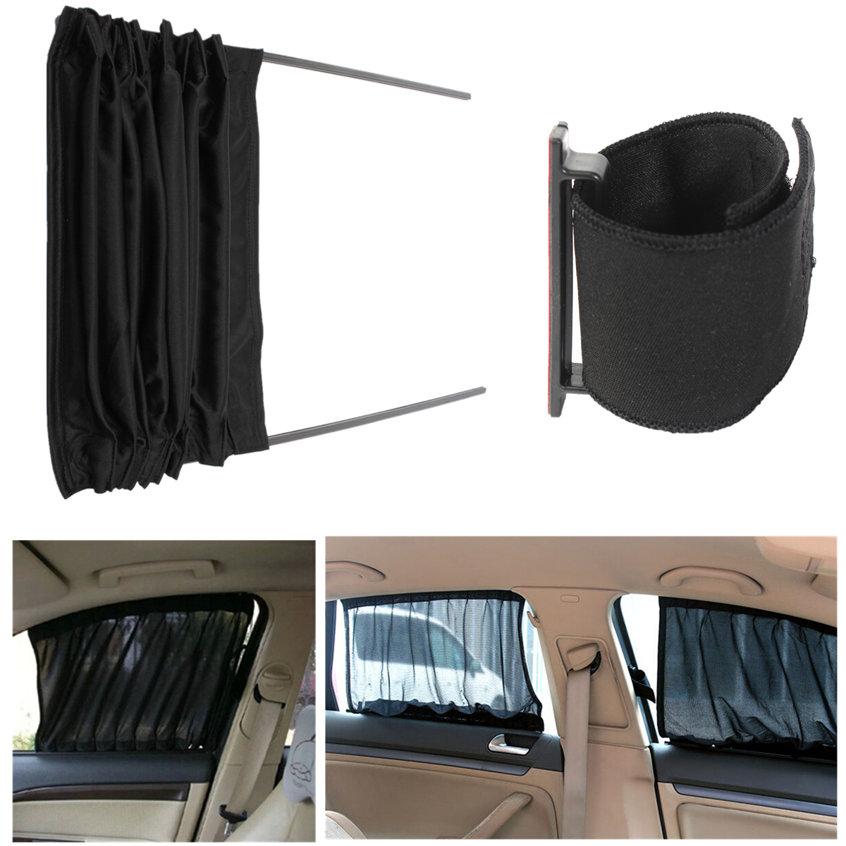 2pcs 70cm mesh l auto rear valance uv sunshade drape visor car window curtain alex nld. Black Bedroom Furniture Sets. Home Design Ideas