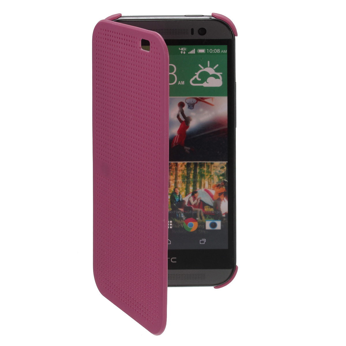 Dot Flip Cover for HTC One M8 (Wine Red) | Lazada Malaysia