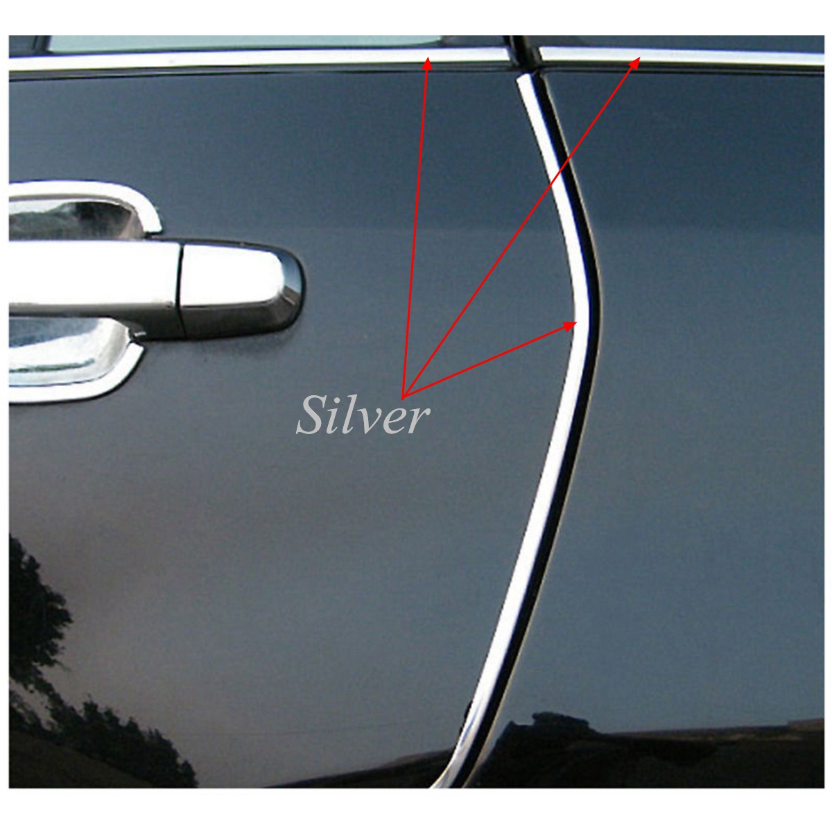5m diy flexible trim car interior exterior moulding strip decorative line silver intl. Black Bedroom Furniture Sets. Home Design Ideas
