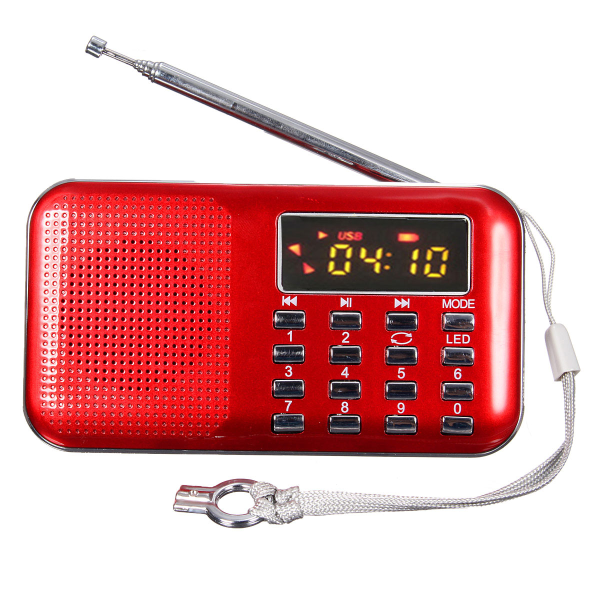 mini portable led digital fm radio speaker usb micro sd tf card mp3 music player red lazada. Black Bedroom Furniture Sets. Home Design Ideas