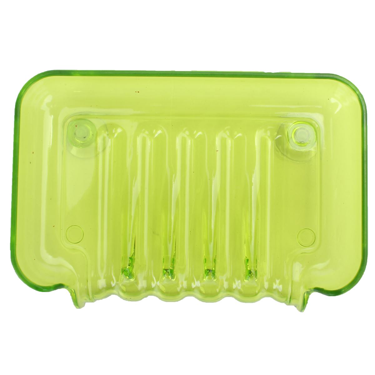 Plastic Bathroom Kitchen Waterfall Drain Soap Dish Sponge Holder Suction Cup Box Green Lazada Ph