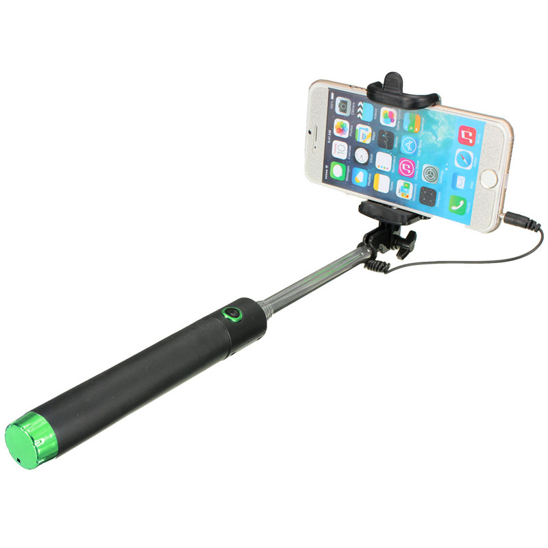 extendable handheld remote selfie stick monopod for iphone samsung android htc green lazada ph. Black Bedroom Furniture Sets. Home Design Ideas