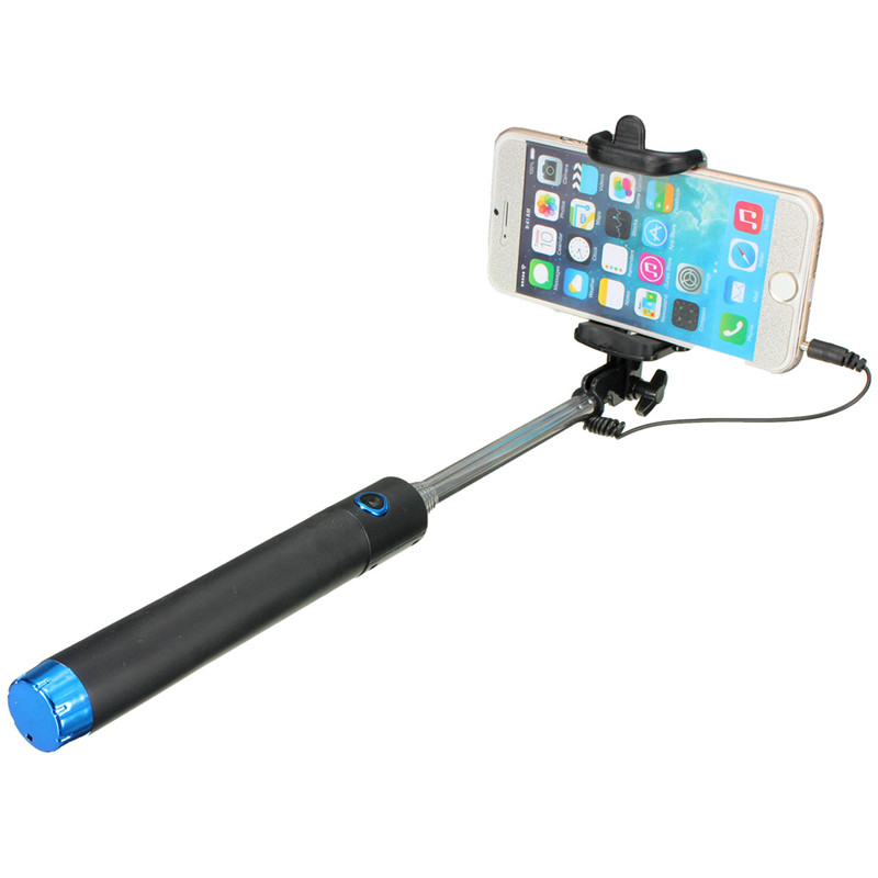 extendable handheld remote selfie stick monopod for iphone samsung android htc blue lazada. Black Bedroom Furniture Sets. Home Design Ideas
