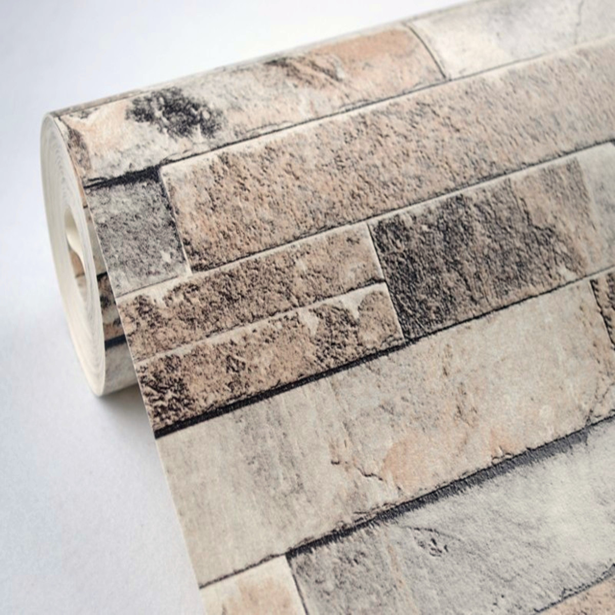 Single Piece Natural Stone Effect Travertine Wall Tile L: Modern Vintage Natural Embossed Stack Stone Brick Tile