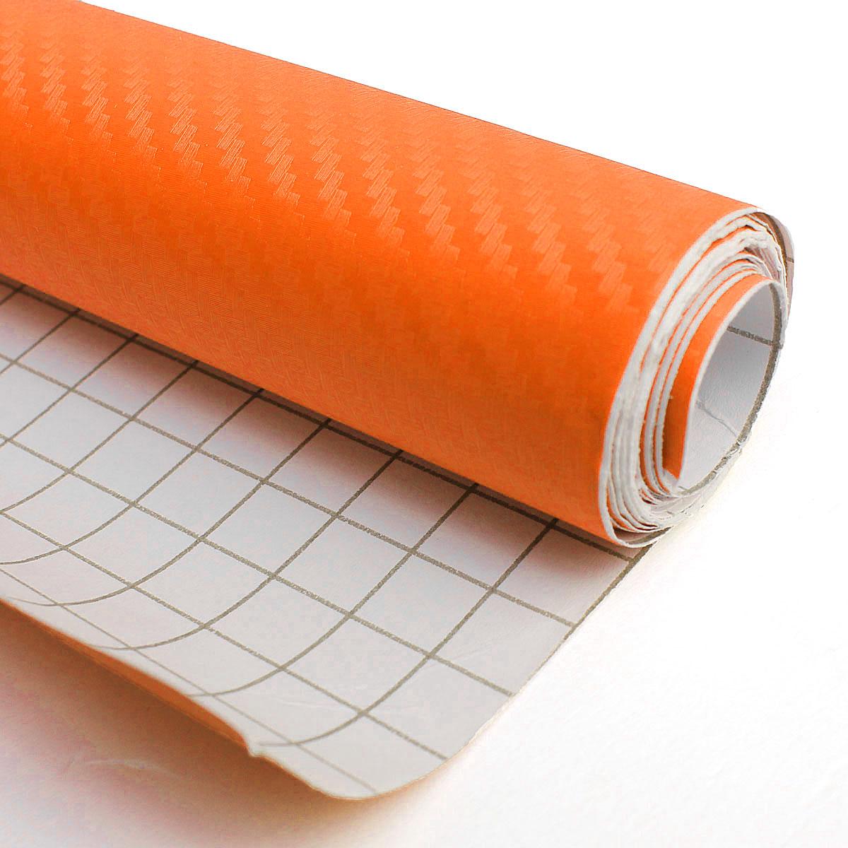 30 200cm diy 3d carbon fiber vinyl car truck wrap sheet film sticker decal roll orange lazada. Black Bedroom Furniture Sets. Home Design Ideas