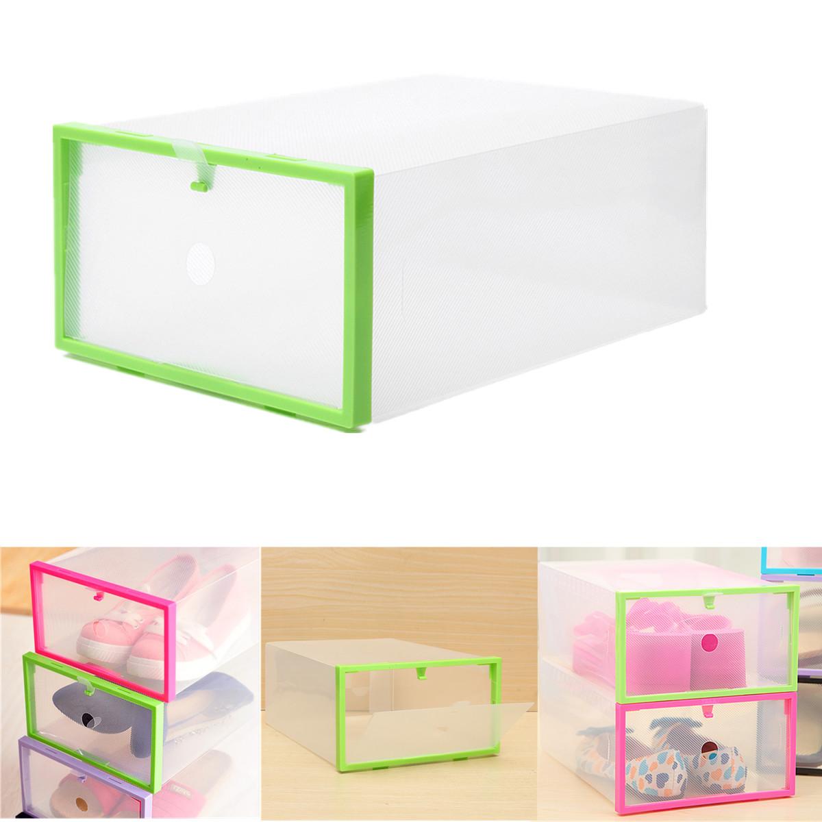 Foldable Plastic Transparent Drawer Case Shoe Storage