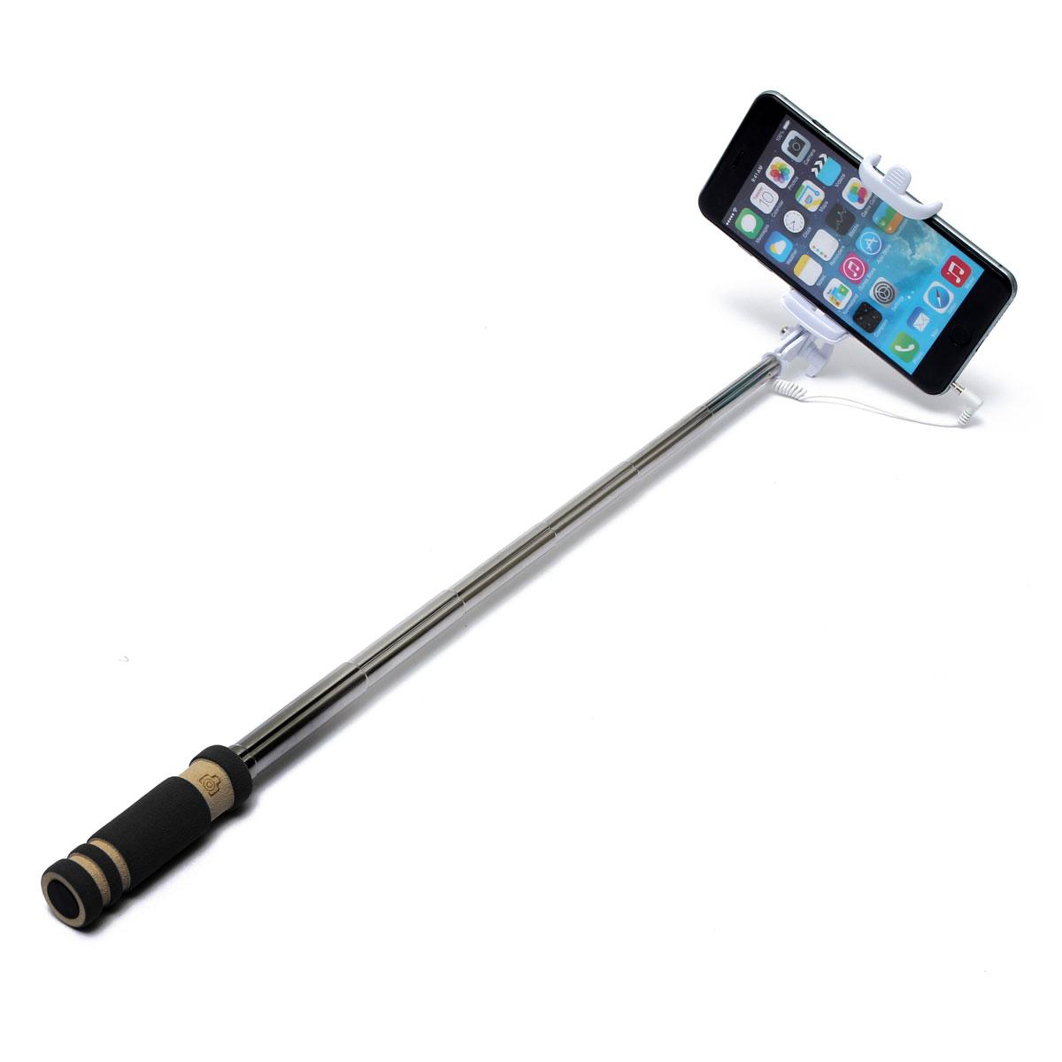 extendable handheld selfie stick wired remote shutter monopod for phone black lazada singapore. Black Bedroom Furniture Sets. Home Design Ideas