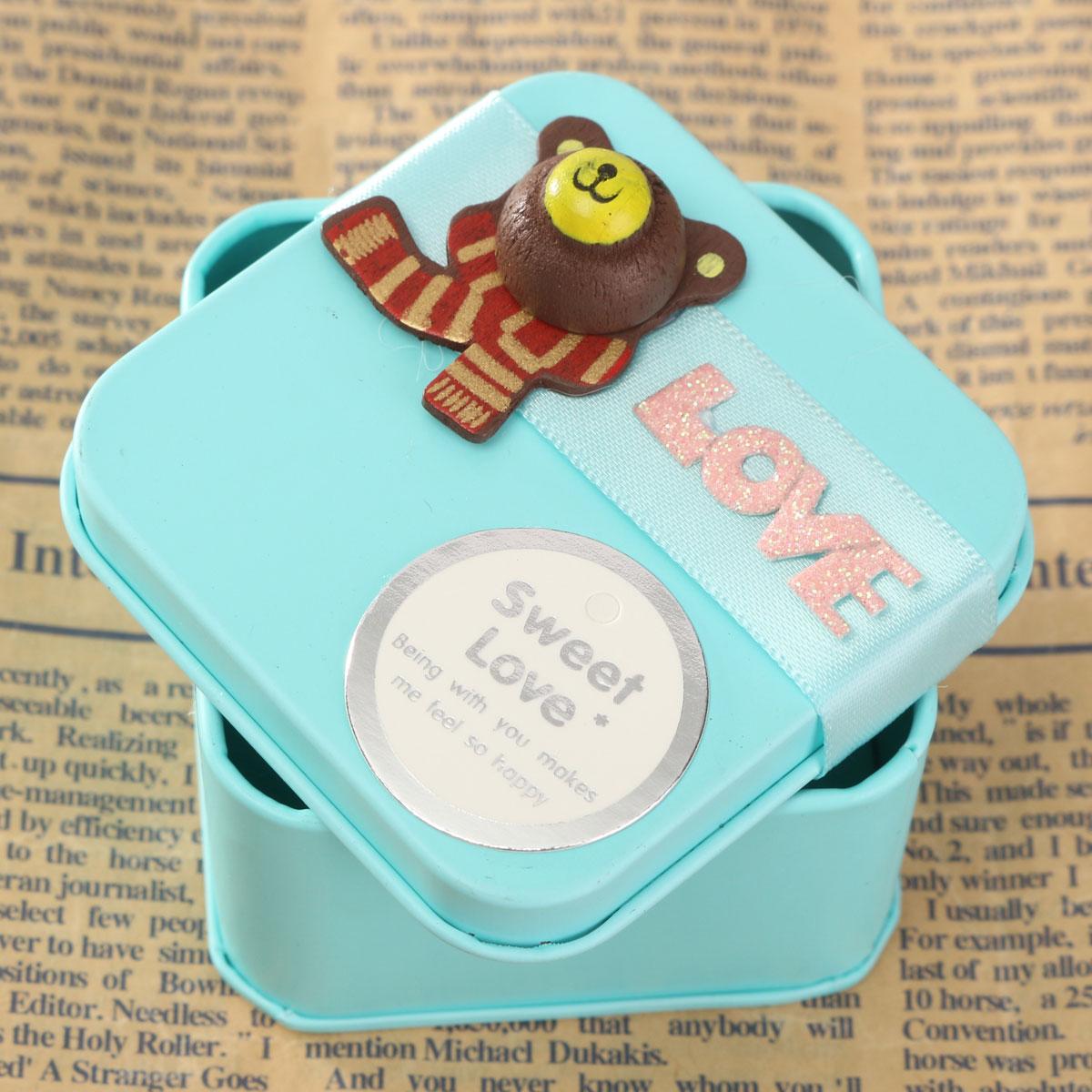 ... Tin Cartoon Creative Mini Candy Wedding Gift Boxes Blue S (EXPORT