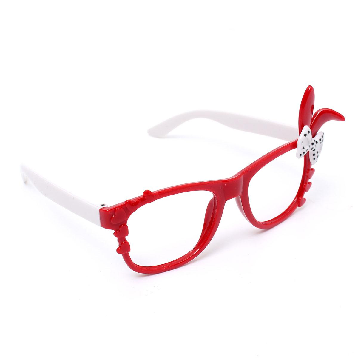 Glasses Frame Hurts My Ear : Cute Fashion Bunny Ear Bowknot Lens-free Eyeglass Frame ...