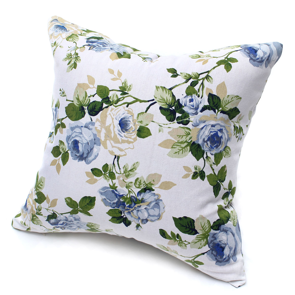 canvas floral flower plant throw pillow case sofa car