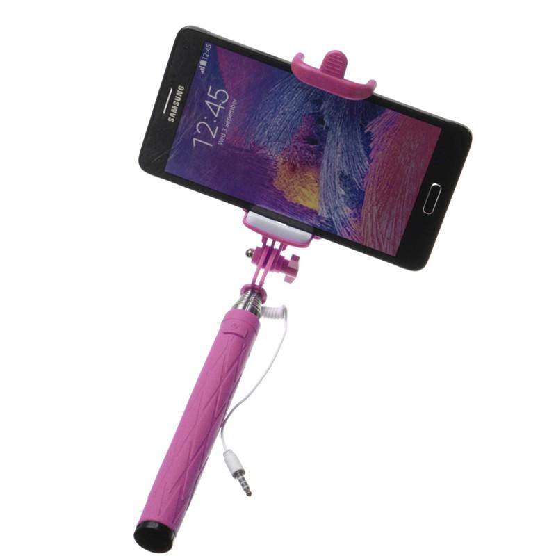 extendable monopod handheld portrait selfie stick for smartphone purple lazada ph. Black Bedroom Furniture Sets. Home Design Ideas