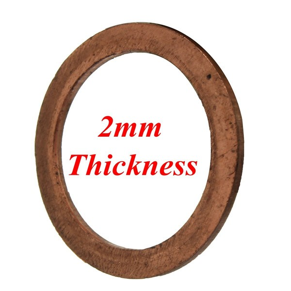 Copper exhaust crush gasket for motorcycle pitbike cc