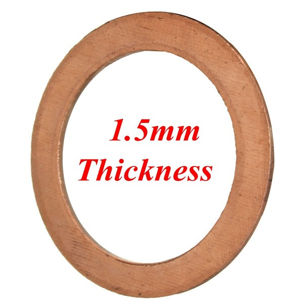 Copper exhaust crush gasket for motorcycle pit bike cc