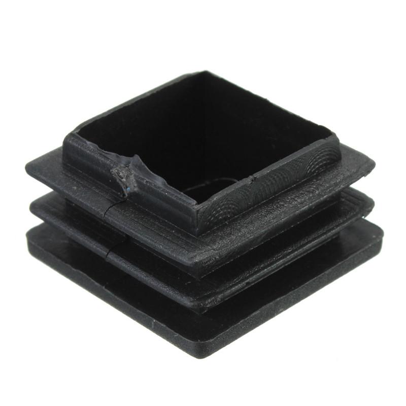 Pcs plastic black blanking end caps square inserts for