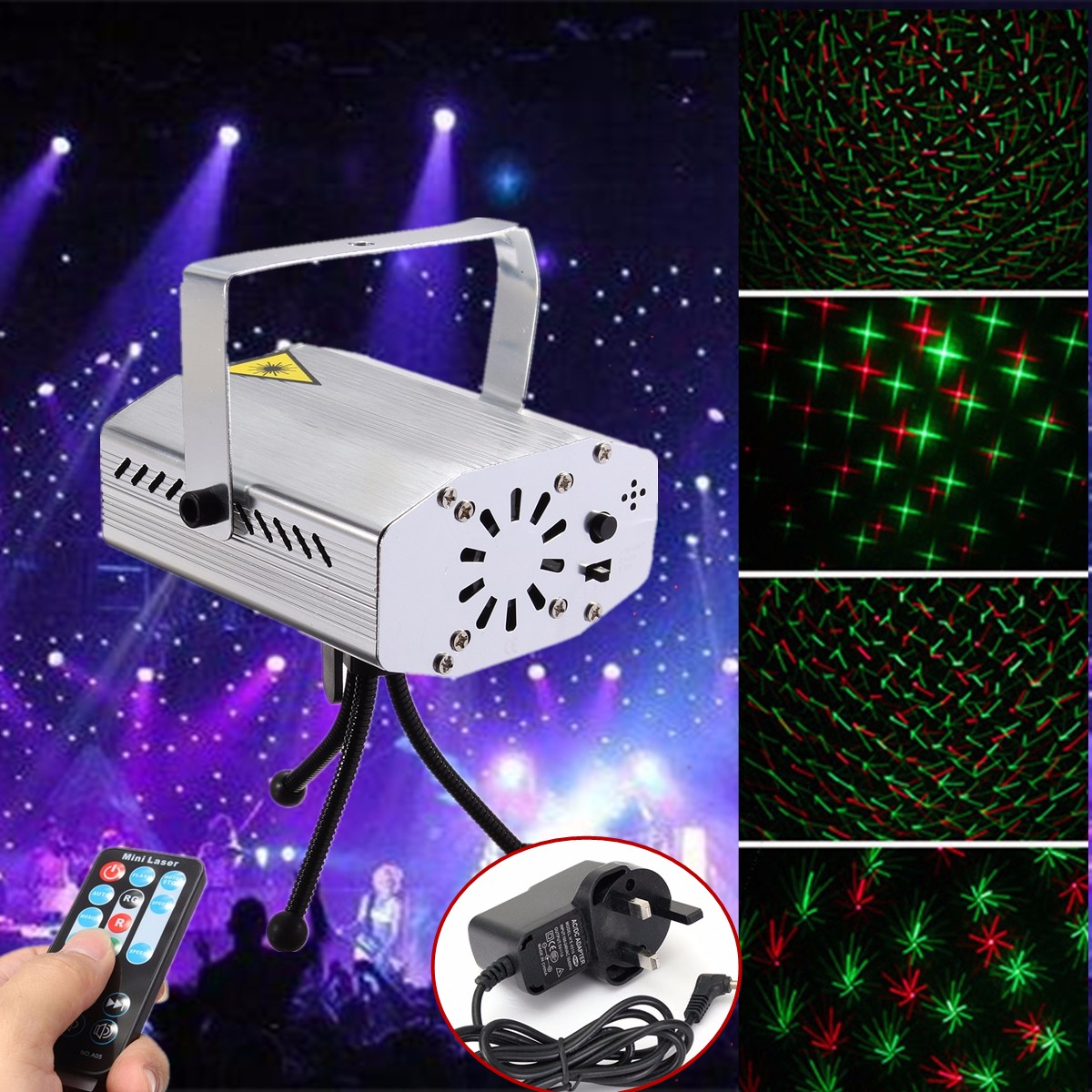 mini r g auto voice xmas dj club party led laser stage