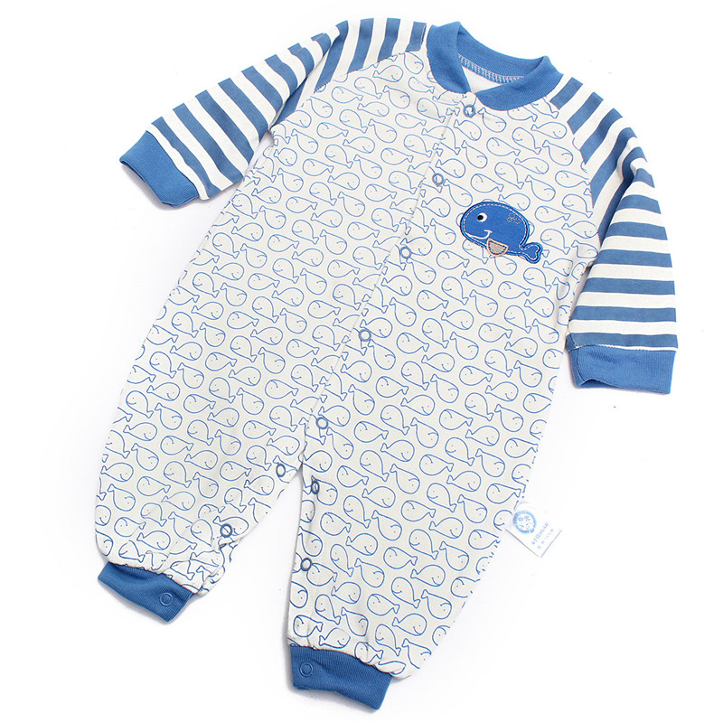 Newborn Girl Boy Romper Baby Clothes Infant Outfit Blue