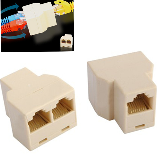 1 a 2 ports rj45 cat5 6 lan ethernet r seau splitter. Black Bedroom Furniture Sets. Home Design Ideas