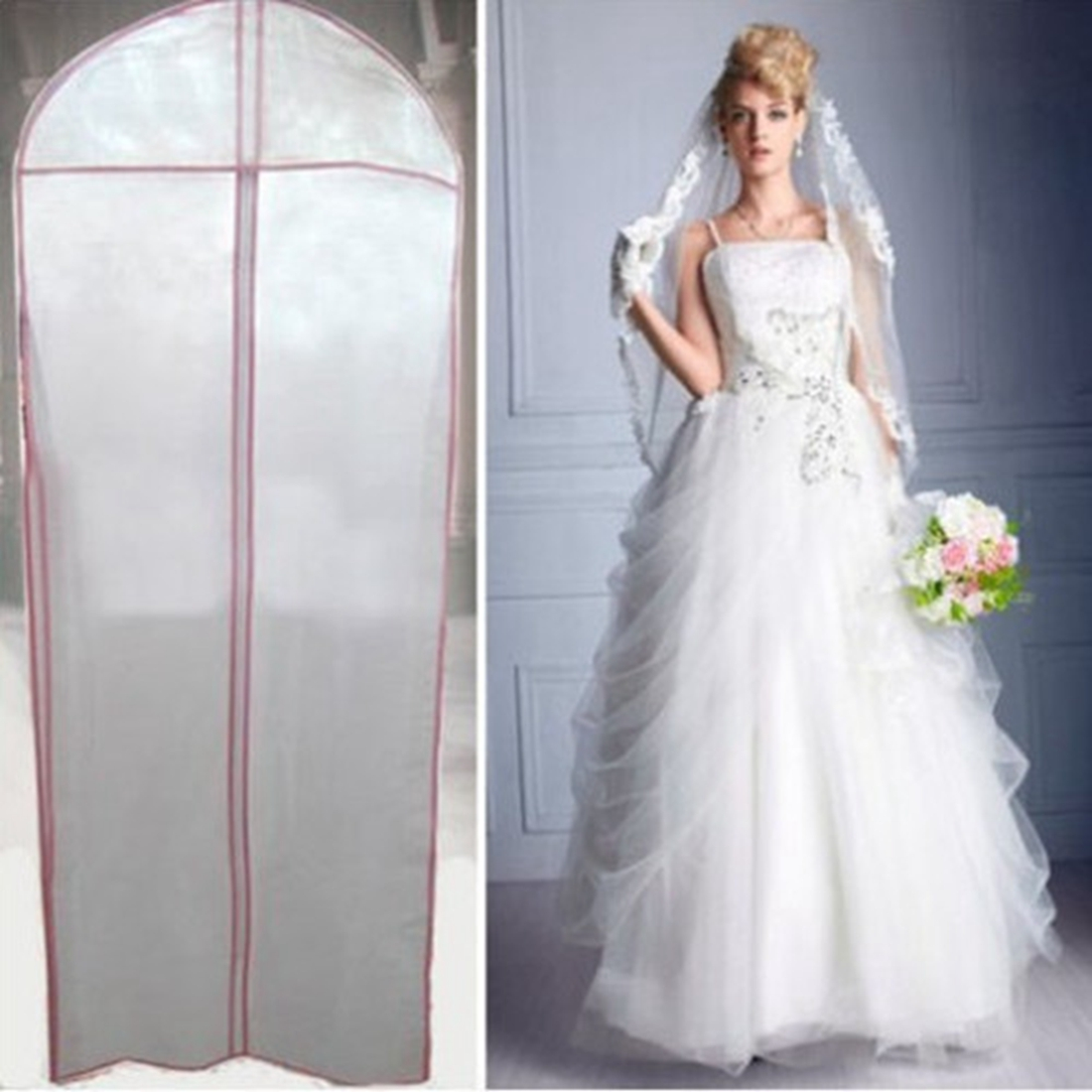 bridal wedding dress gown garment storage bag party evening protector