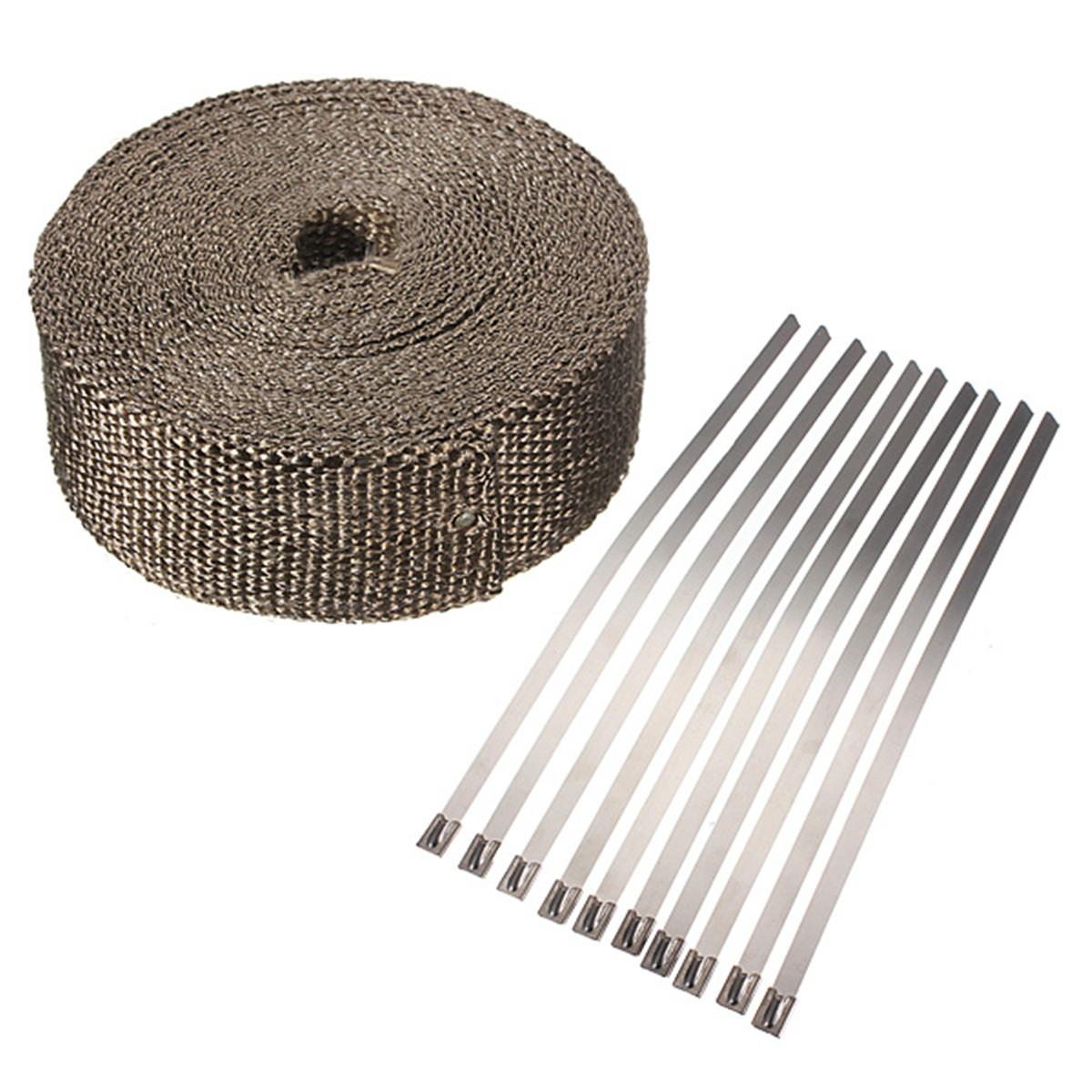 bande isolant thermique pour tuyau d 39 chappement fibre. Black Bedroom Furniture Sets. Home Design Ideas