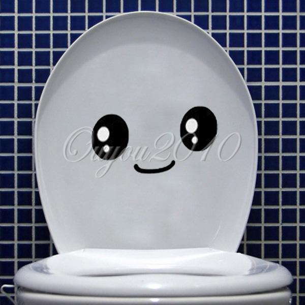 Creative home decor toilet cartoon smiling face diy cute for Bathroom accessories lazada
