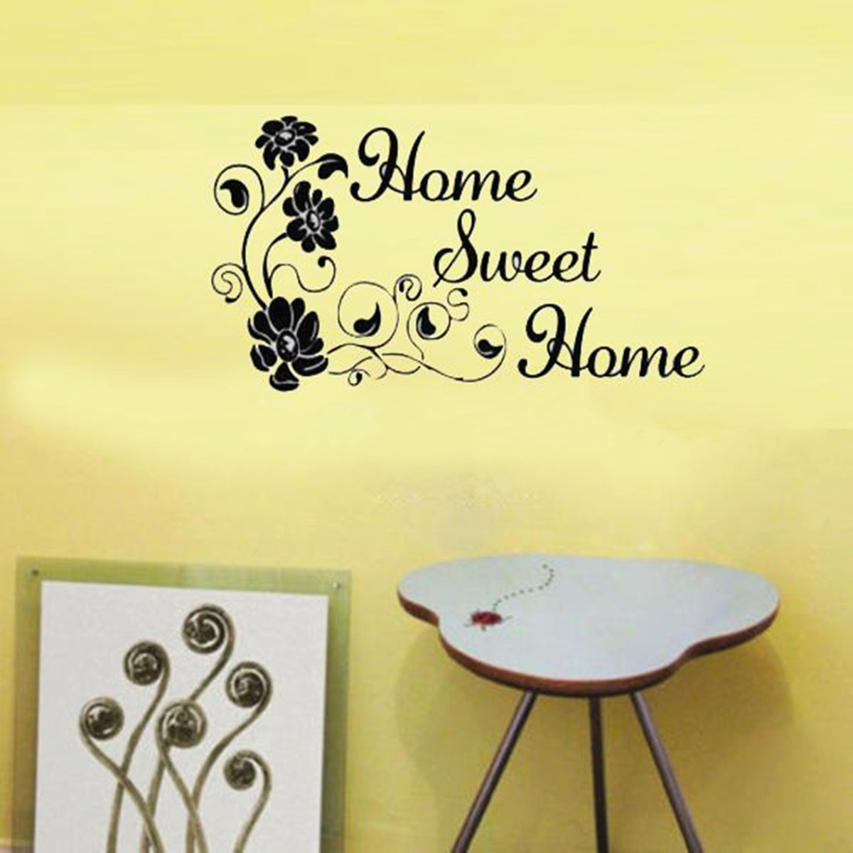 DIY Quote Sweet Home Flowers Wall Stickers Removeable Art Vinyl ...