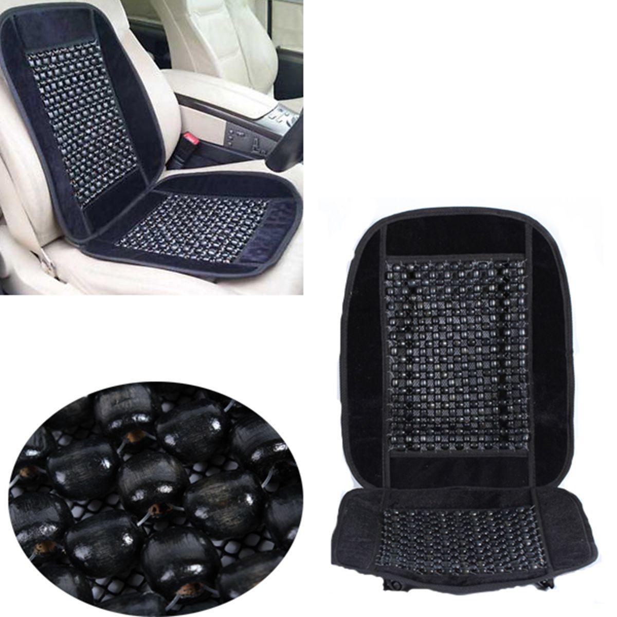 wooden beaded massaging car truck home chair seat