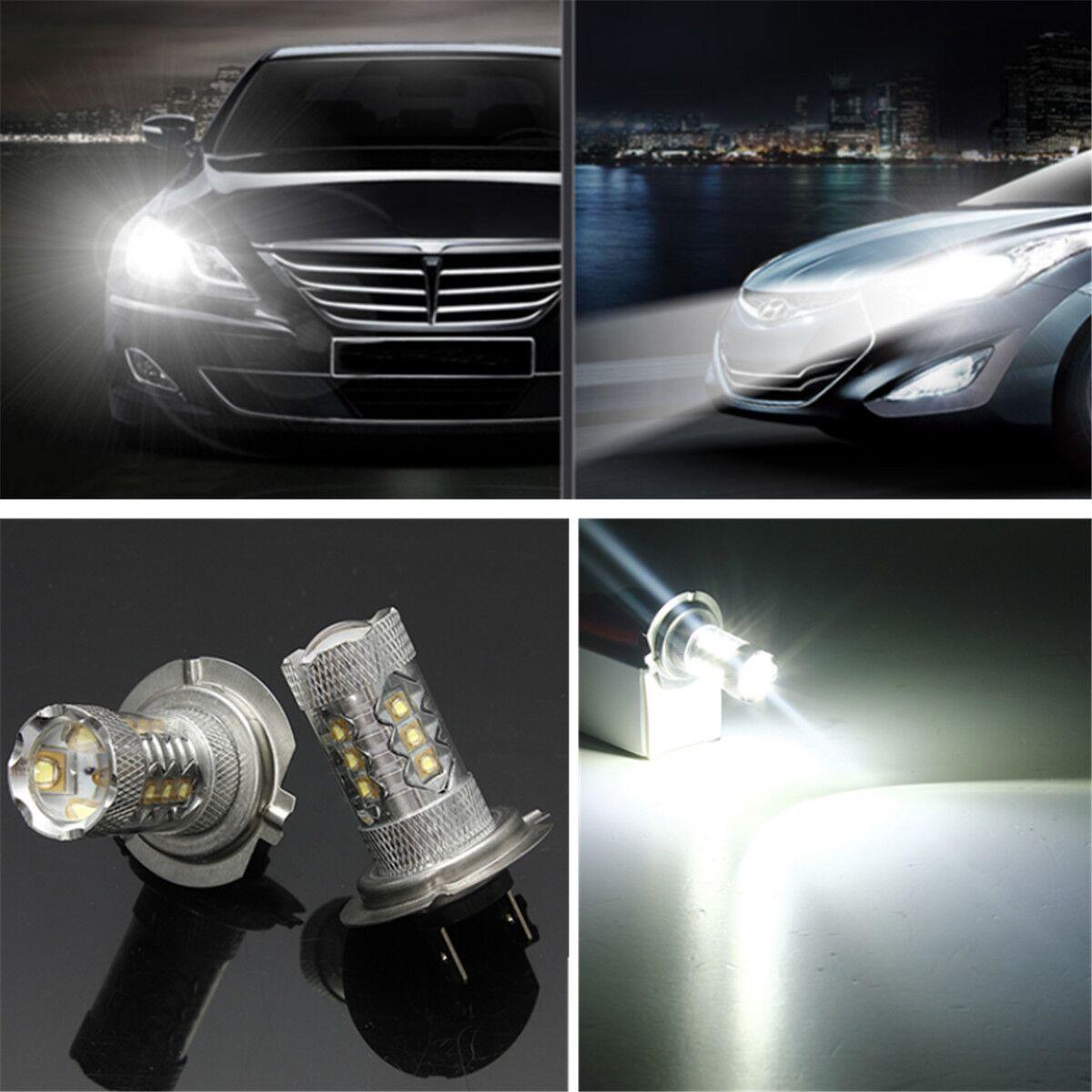 2x 80w h7 brouillard fog smd led conduire ampoule lampe - Ampoule led voiture h7 ...