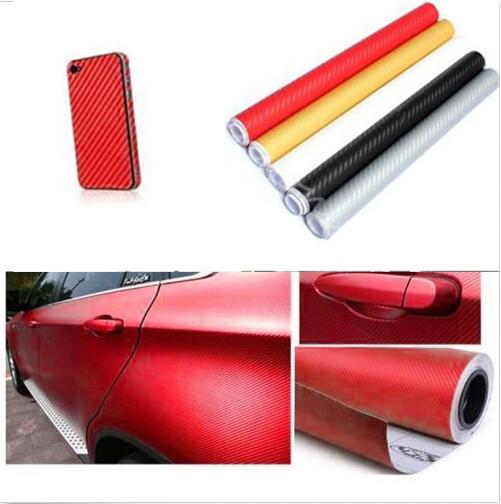 autocollant diy 3d fibre carbone voiture film protection enveloppe rouleau adh sif 30x127cm. Black Bedroom Furniture Sets. Home Design Ideas