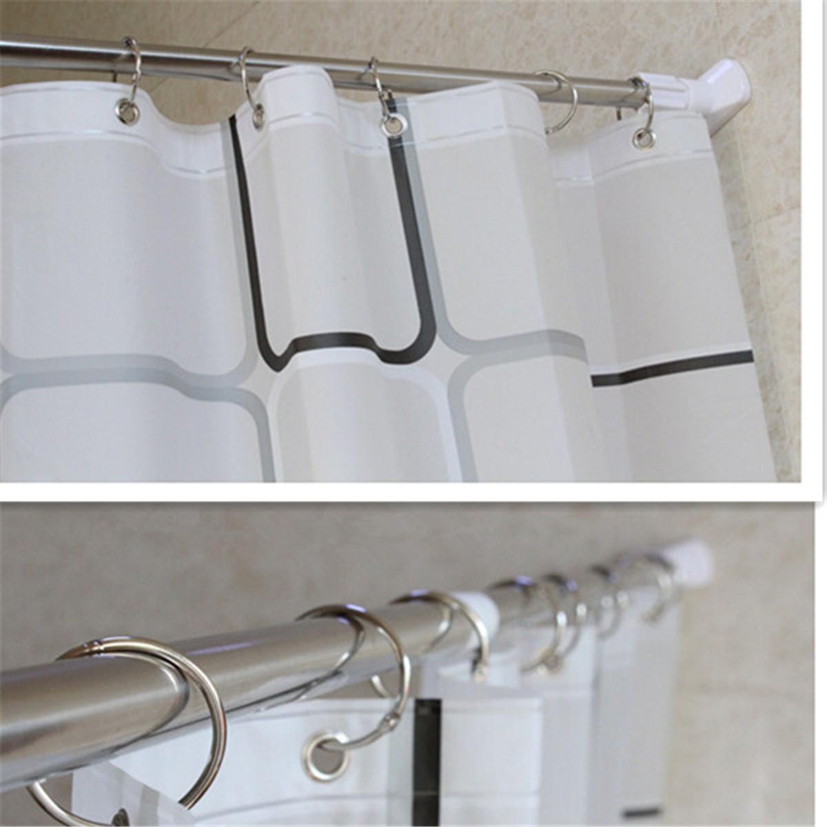 Bathroom Curtain Pole: Stainless Steel Adjustable Tension Door Bathroom Shower