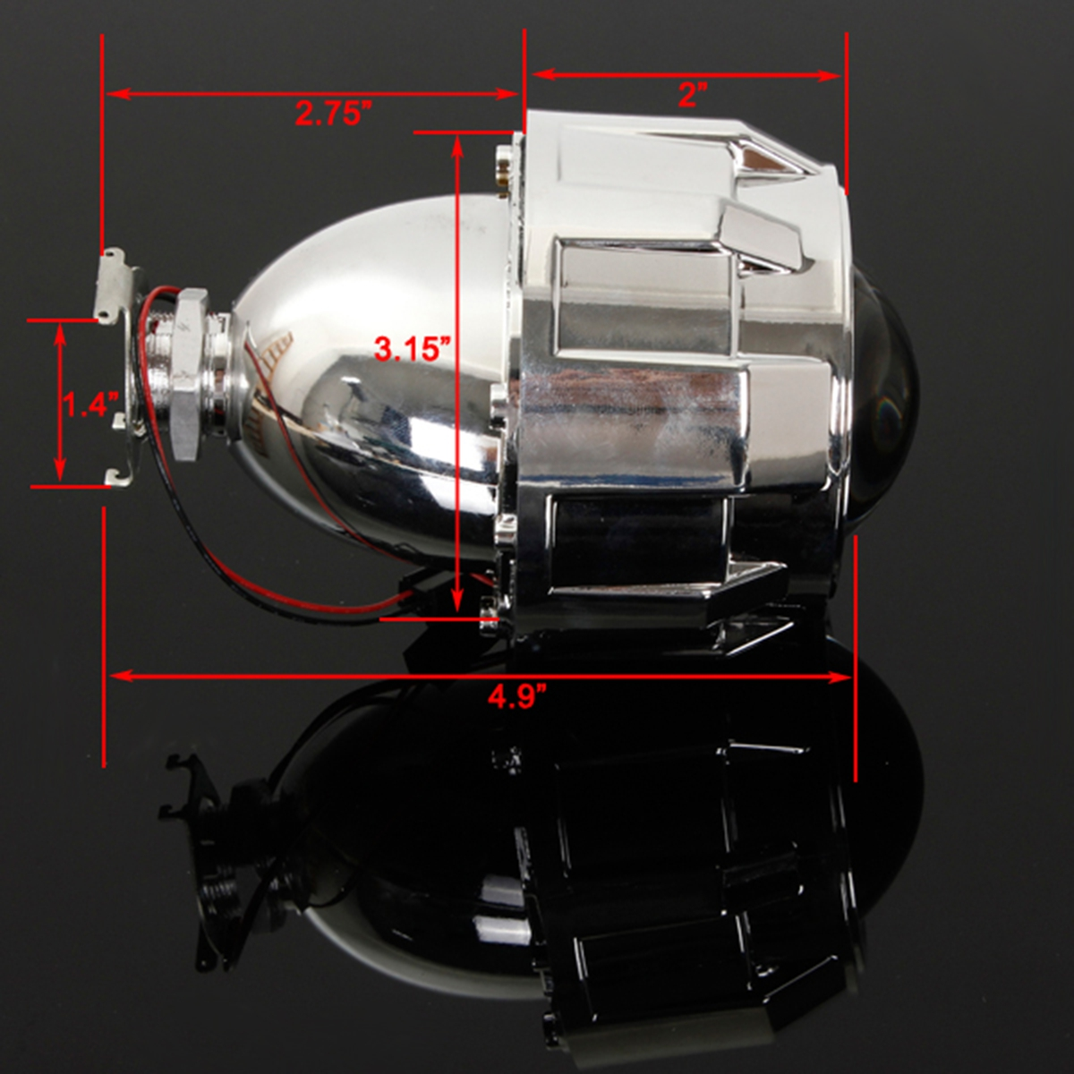 2 5 car mini bi xenon hid projector lens angels eye. Black Bedroom Furniture Sets. Home Design Ideas