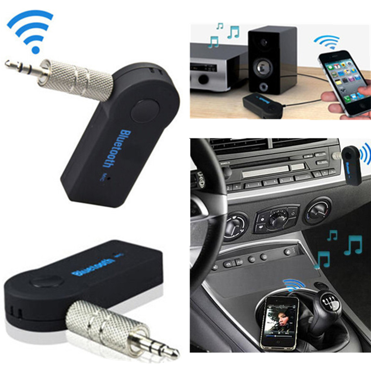 bluetooth music home car speaker audio adapter. Black Bedroom Furniture Sets. Home Design Ideas