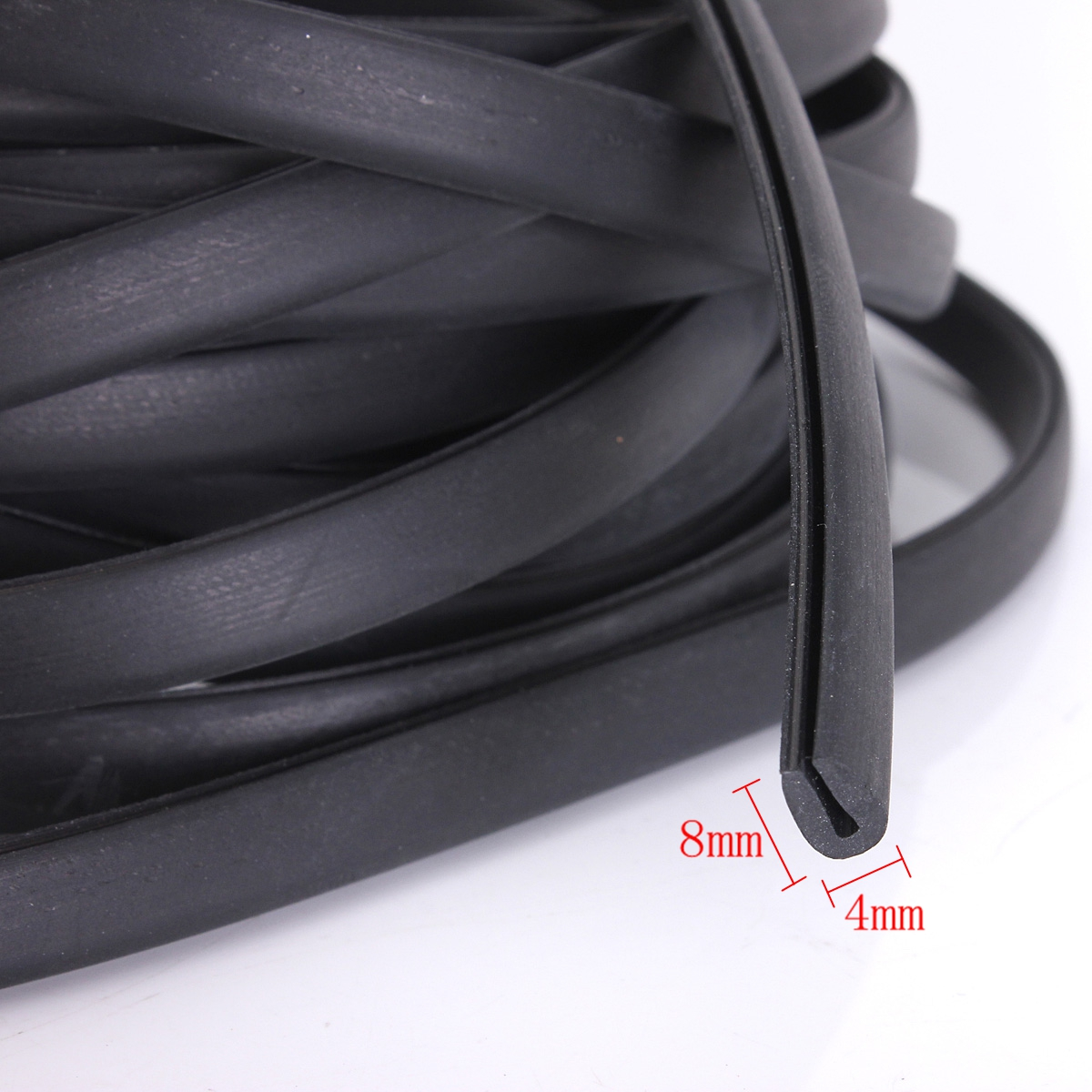 6m Black Moulding Trim Strip Car Door Scratch Protector
