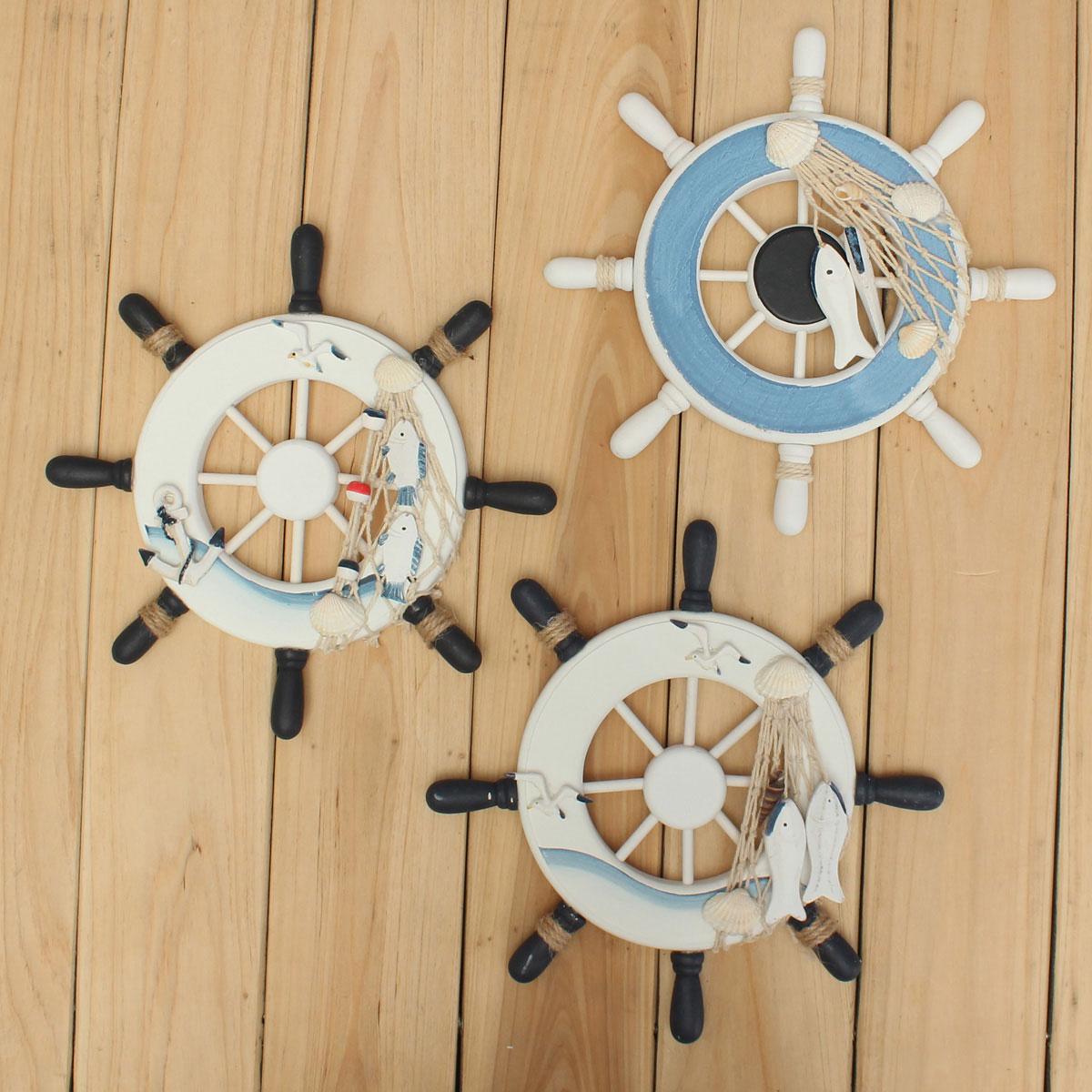 wood boat ship wheel nautical decoration beach home rudder wall hanging decor intl lazada ph. Black Bedroom Furniture Sets. Home Design Ideas