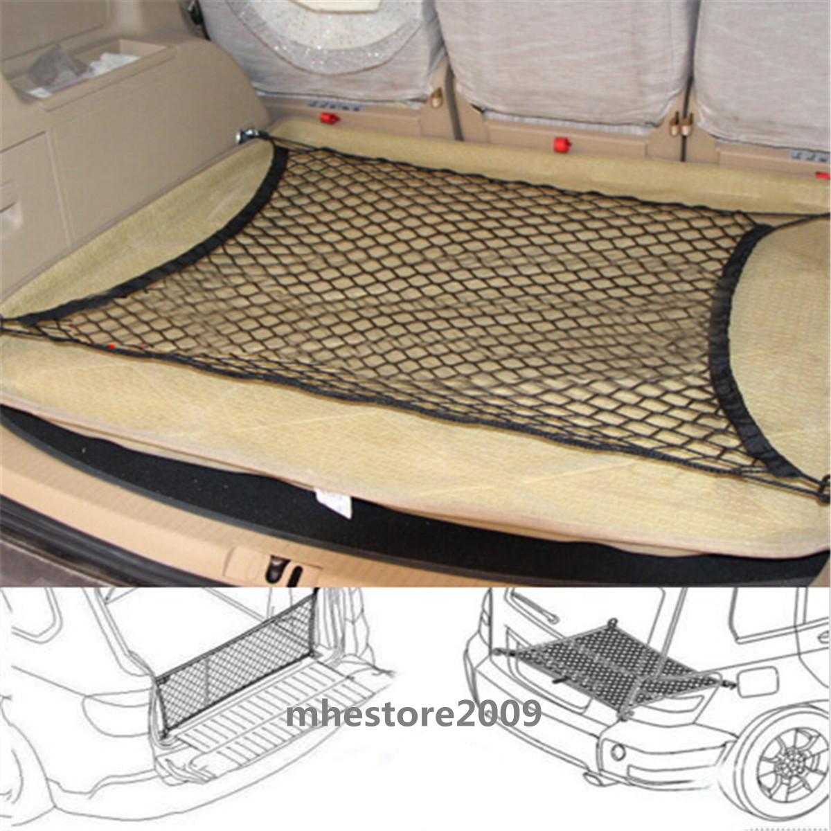 Car Trunk Luggage Storage Cargo Organiser Nylon Elastic Mesh Net Black