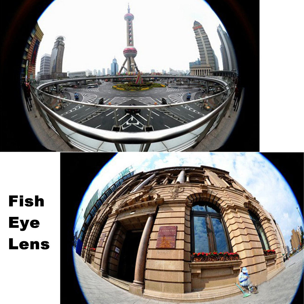 3 in 1 fish eye and wide angle and macro clip lens kit for for Fish eye lens