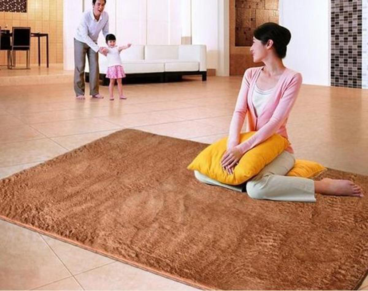Shaggy Anti skid Carpets Rugs Floor MatCover 80120cm