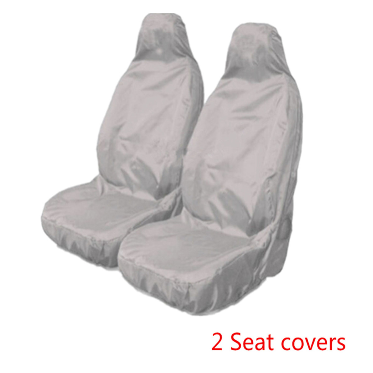 2 PCS Universal Car Auto Van Waterproof Nylon Grey Front
