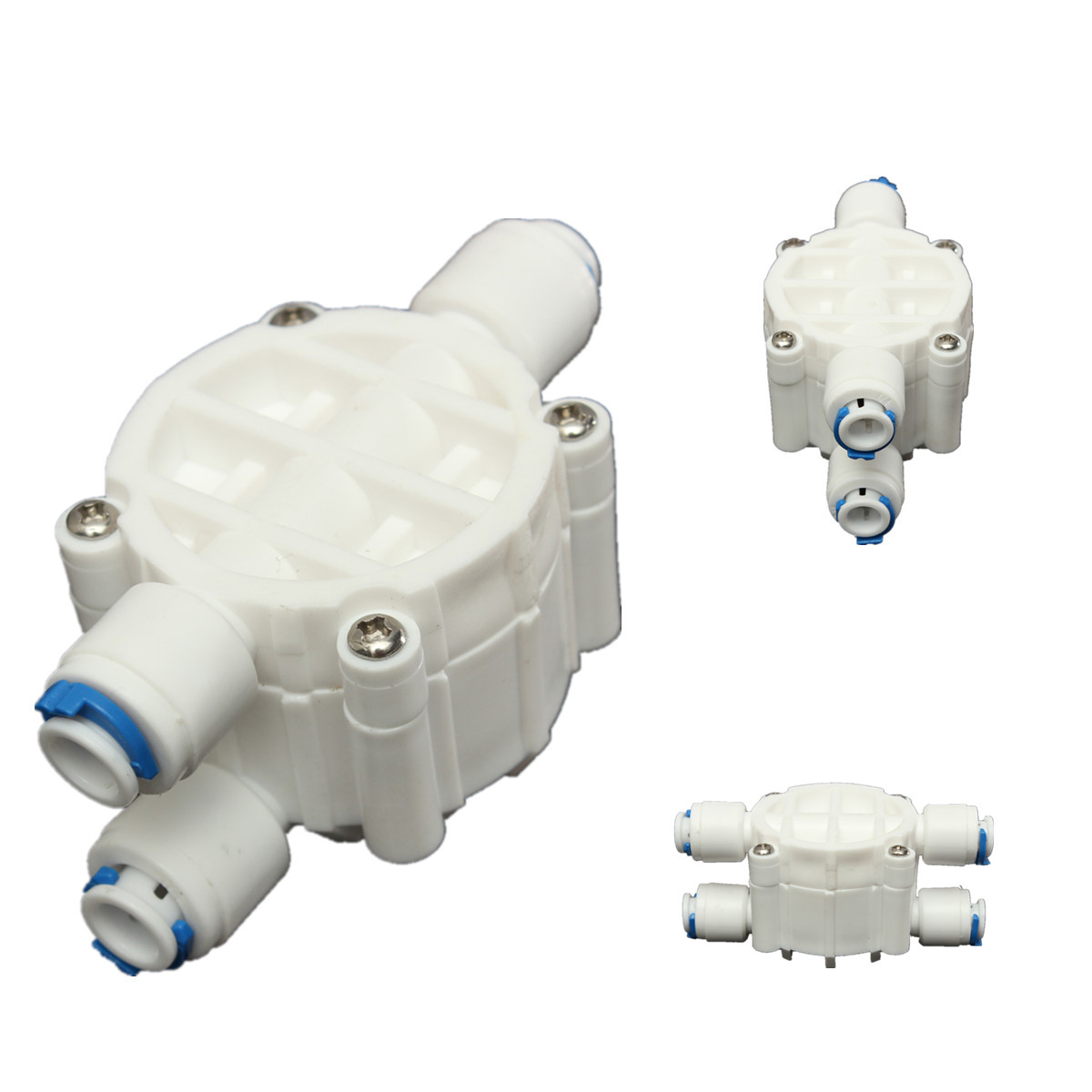 1 4 4 way auto shut off valve quick connect for ro reverse osmosis system lazada malaysia. Black Bedroom Furniture Sets. Home Design Ideas