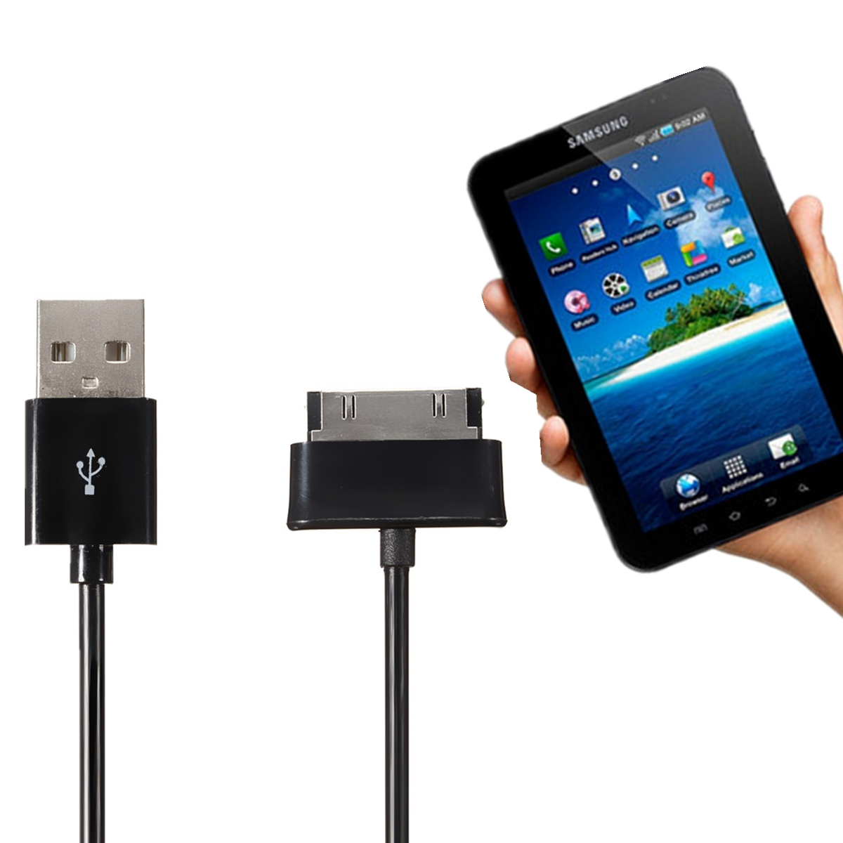 USB Data Cable Sync Charger for Samsung Galaxy TAB 2