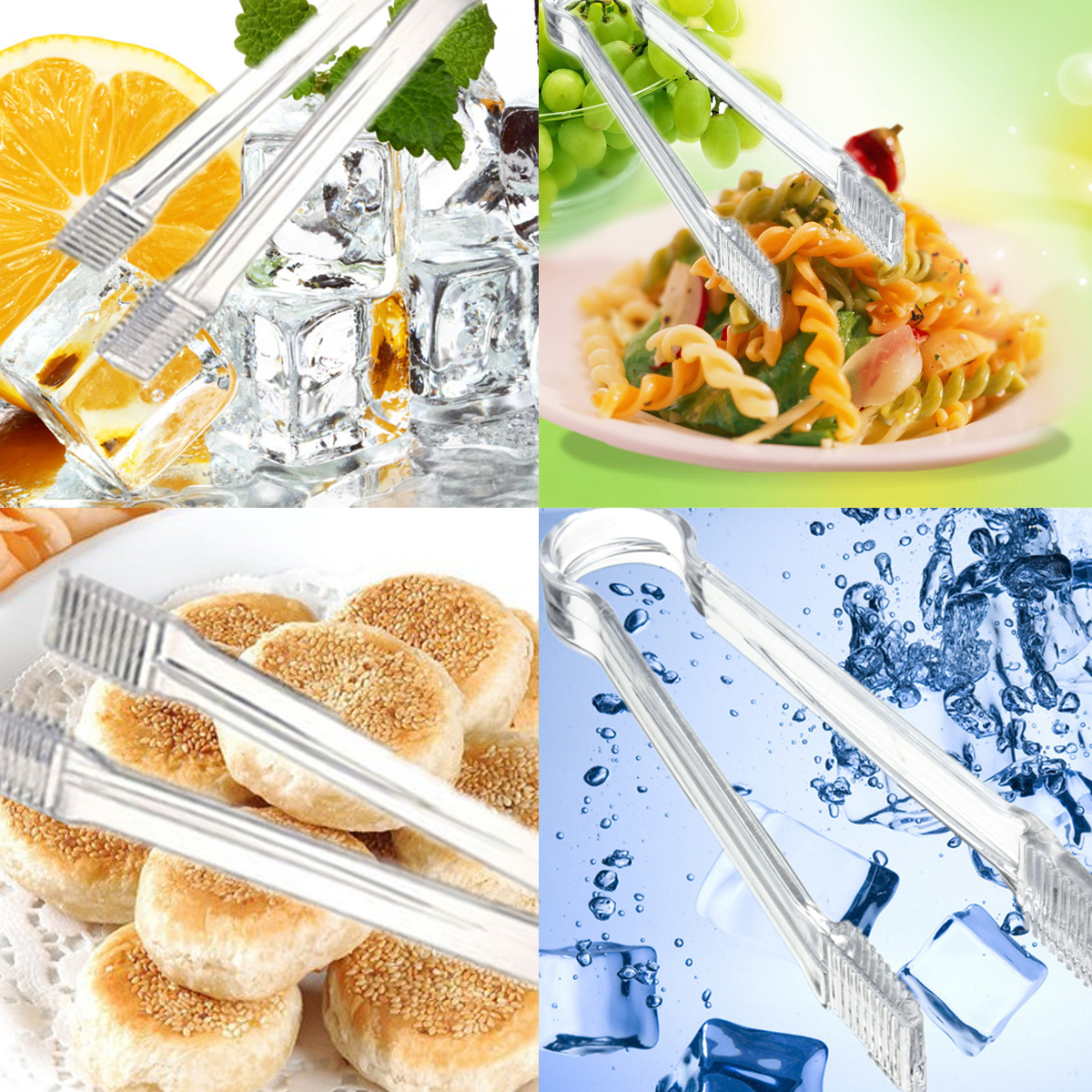 Autoleader plastic ice cube food tong clip bar kitchen for Food bar kitchen jkl