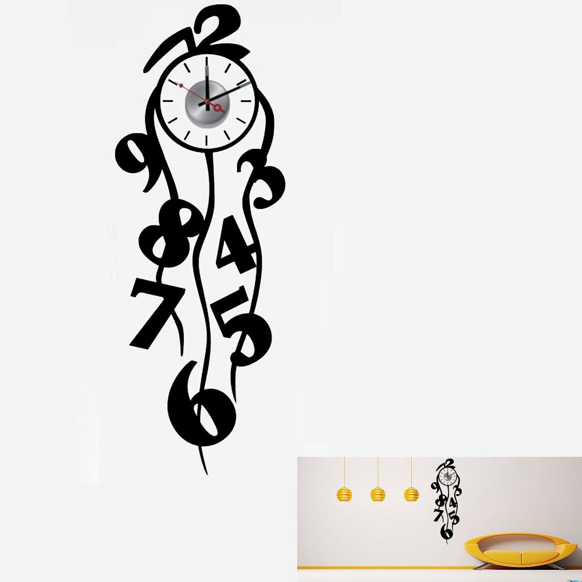 Adesivo orologio da parete removable numbers sticker wall for Orologio stickers