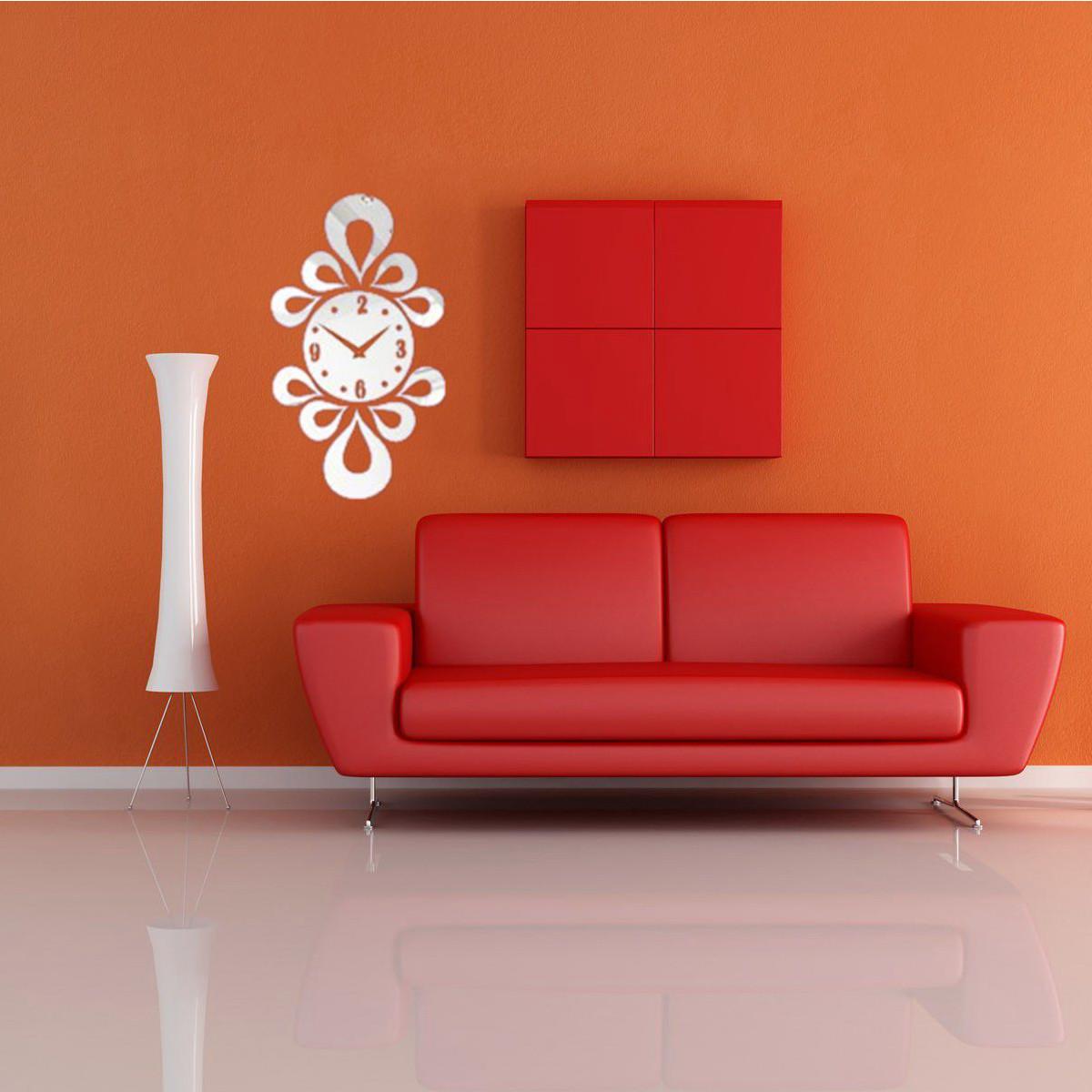 3d Modern Frameless Wall Clock Crystal Mirror Sticker