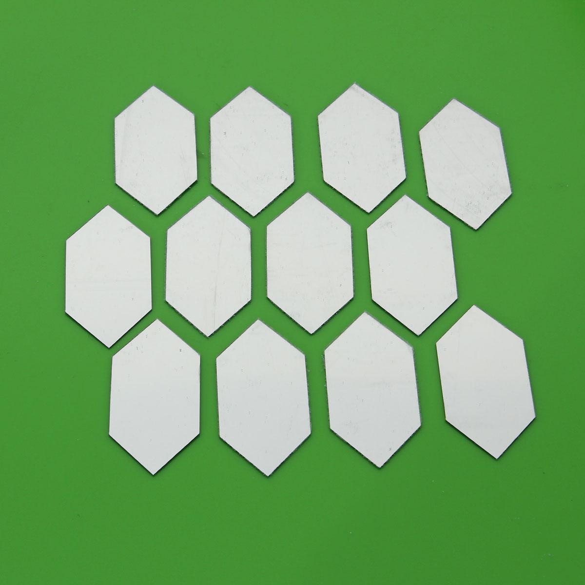 12Pcs DIY 3D Mirror Geometric Hexagon Wall Sticker Home Acrylic Mural ...